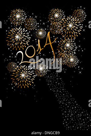 Happy new year 2014 holidays fireworks greeting card background new year 2014 background happy new year 2014 holidays fireworks greeting card background eps10 illustration organized in layers for m4hsunfo