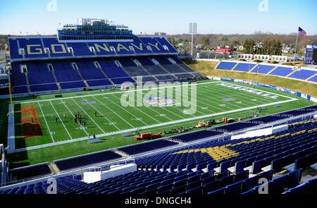 Annapolis, Maryland, USA. 27th Dec, 2013. December 27, 2013: General view of Jack Stephens Field at Navy-Marine - Stock Photo