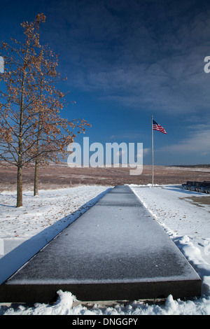 The Flight 93 National Memorial remembers those killed on United Airlines Flight 93 on September 11, 2001. - Stock Photo
