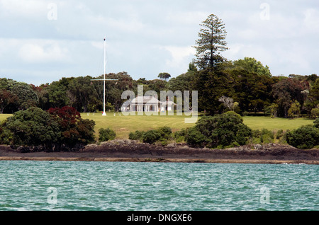 Waitangi treaty grounds in Paihia, Northland, New Zealand - Stock Photo