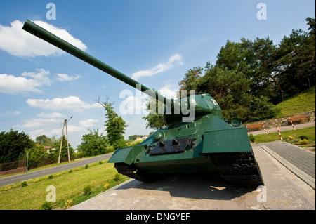 Open-air military museum in Mniszew, Mazovian Voivodship, Poland. - Stock Photo