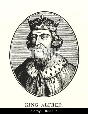 Alfred the Great - King of Wessex from 871 to 899 - Stock Photo