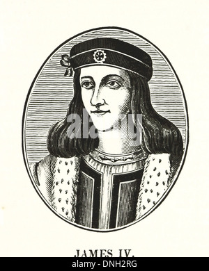 James IV (17 March 1473 – 9 September 1513) - King of Scots from 11 June 1488 to his death - Stock Photo