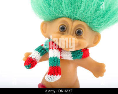 Troll Doll aka Dam Doll first created 1959 by Thomas Dam. - Stock Photo