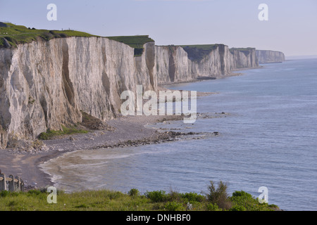 BOIS DE CISE AND THE CLIFFS, AULT, PICARDY, FRANCE - Stock Photo