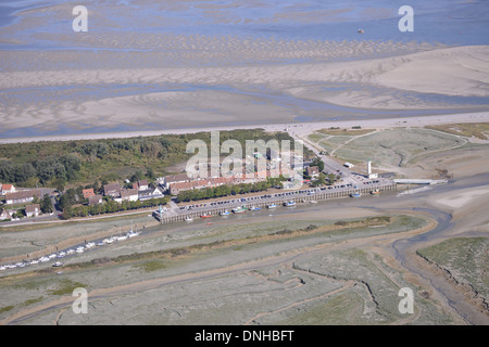 AERIAL VIEW, LE HOURDEL, CAYEUX-SUR-MER, BAY OF SOMME, SOMME, PICARDY, FRANCE - Stock Photo