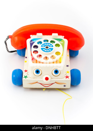 Fisher-Price ( Fisher Price ) Chatter Telephone toddlers pull toy telephone with rotary dial. from 1962 - Stock Photo