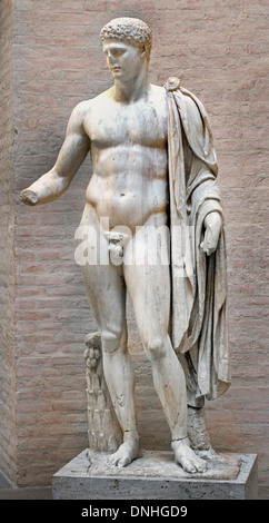 Hermes Roman copy 100 AD after Greek original ( Olympian god in Greek religion and mythology son of Zeus ) - Stock Photo