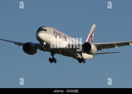 QATAR AIRWAYS BOEING 787 - Stock Photo