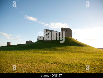 Duffus Castle stone - keep with curtain wall Elgin Morayshire.   SCO 9163 - Stock Photo