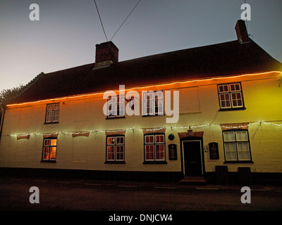 The Hoxne Swan, a public house in Suffolk - Stock Photo