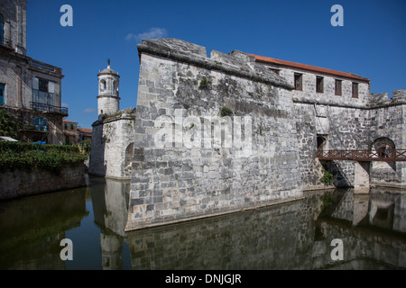 CASTILLO DE LA REAL FUERZA, MILITARY FORTRESS FROM THE 16TH CENTURY LISTED AS A WORLD HERITAGE SITE BY UNESCO, HAVANA, - Stock Photo