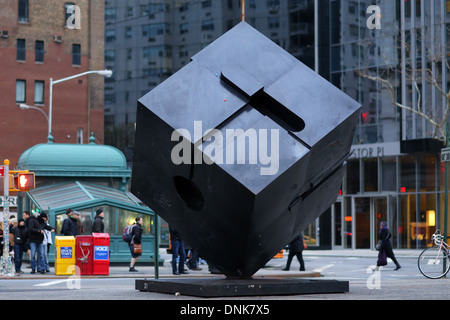 The Alamo, Cube sculpture in Astor Place, NYC. - Stock Photo