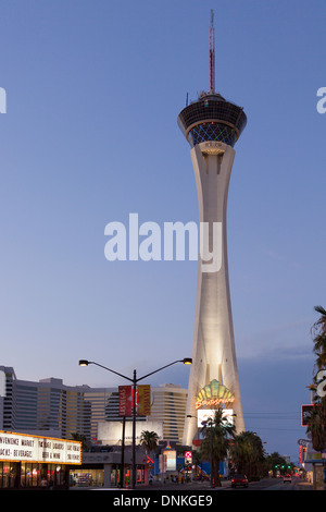 Stratosphere tower on Las Vegas Boulevard,Las Vegas,Nevada - Stock Photo