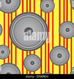Speakers seamless background. Vector illustration. - Stock Photo