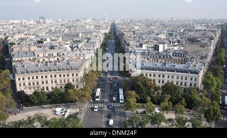 Paris, France, Cityscape of Paris with the Avenue de Wagram