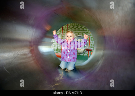 Oberhausen, Germany, a modern children's playground - Stock Photo