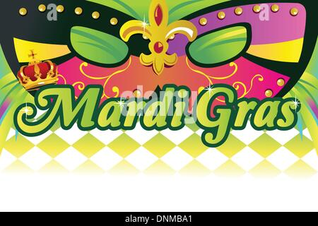 A vector illustration of mardi gras background with copy space - Stock Photo