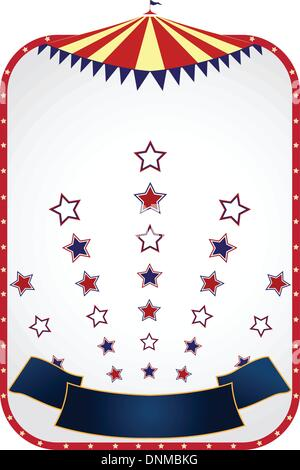 A vector illustration of circus tent background design - Stock Photo