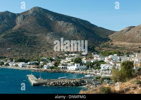 Griechenland, Insel Tilos, Hafenort Livadia - Stock Photo