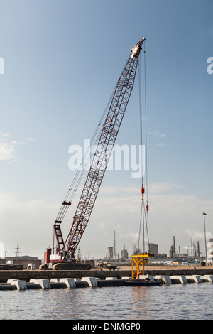 Outflow Pipe Construction, Billingham Reach, River Tees,Teesside, England - Stock Photo