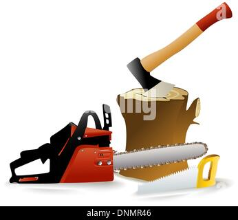 Woodcutter's tools - Stock Photo
