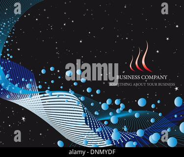 Abstract vector business background on sea theme - Stock Photo