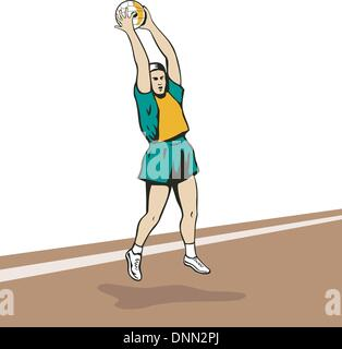 how to catch a ball in netball