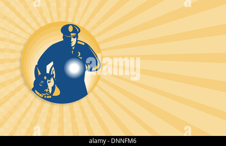Business Card Template Illustration Of A Policeman Police Officer - Police business cards templates
