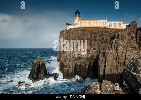 The lighthouse on the most westerly point of Skye were built in 1909 for the Northern Lighthouse Board by David - Stock Photo