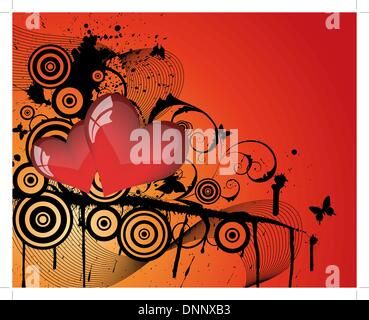 Abstract Valentine days background frame. Vector illustration. - Stock Photo