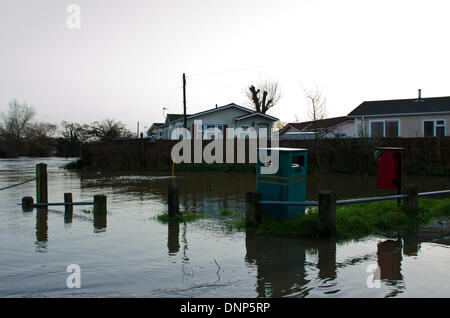 Iford Christchurch Dorset UK 3rd January 2014 Residents Evacuated From The