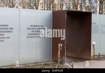 05/12/2013 Memorial to the Sinti and Roma of Europe murdered under national socialism, Berlin, Germany - Stock Photo