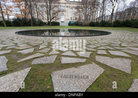 05/12/2013 Reichstag Building and Memorial to the Sinti and Roma of Europe murdered under national socialism, Berlin, - Stock Photo