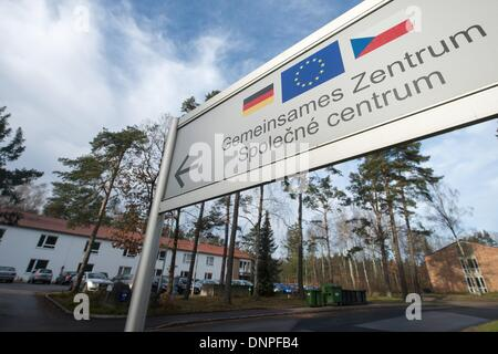 Schwandorf, Germany. 03rd Jan, 2014. View of the German/Czech Police and Customs Co-operation Center ('Gemeinsames - Stock Photo