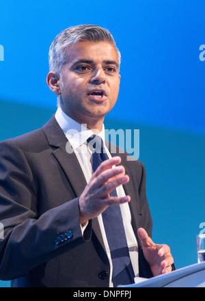 Sadiq Khan Labour MP for Tooting Shadow secretary of state for Justice Shadow foreign secretary at the Labour Party - Stock Photo