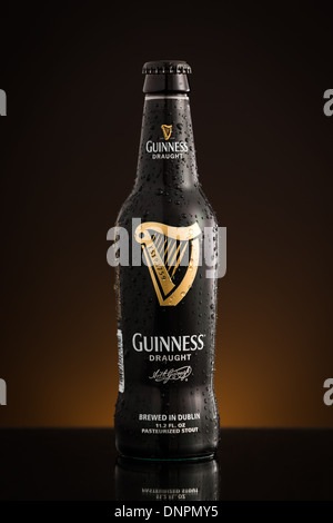 Photo of the new USA imported Draught Guinness bottle - Stock Photo