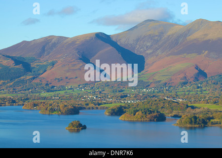 Skiddaw mountain above Derwent Water Lake District National Park Cumbria England United Kingdom Great Britain