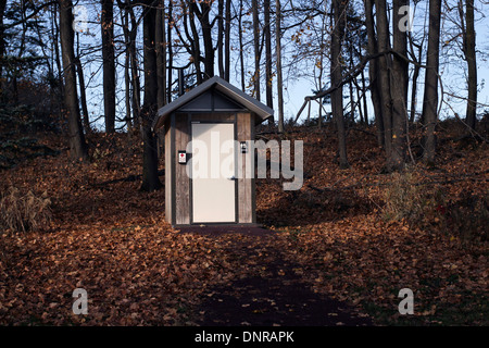 Outdoor privy outhouse loo toilet. - Stock Photo