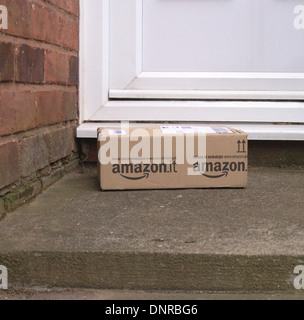 Amazon Home Parcel Delivery on a Doorstep, UK - Stock Photo