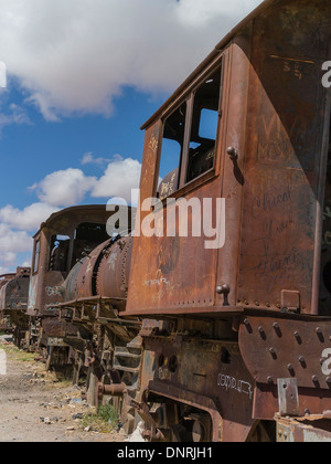 Old And Abandoned Rusting Steam Trains And Railway