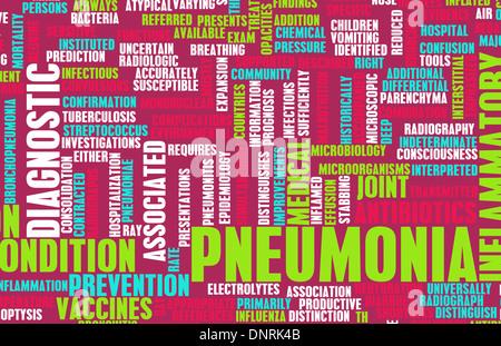 Pneumonia Concept as a Medical Disease Art - Stock Photo