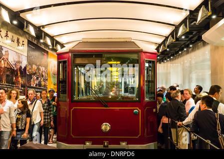 Peak Tram, Hong Kong, China - Stock Photo