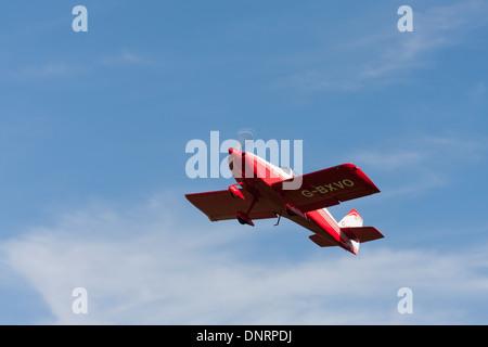 Vans RV-6A G-BXVO in flight - Stock Photo