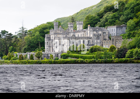 Kylemore Abbey, Ireland, a Benedictine Abbey home to Benedictine Nuns who were forced to flee Ypres Belgium during - Stock Photo