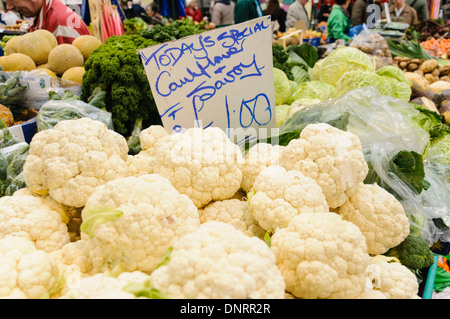 Vegetable stall in a market - Stock Photo