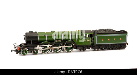 Scale model of an old  steam locomotive 4476 Royal Lancer - Stock Photo