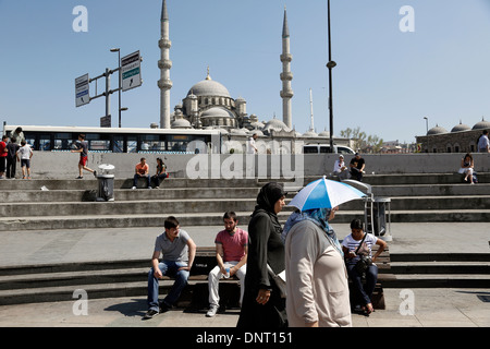 Eminonu New Mosque Yeni Cami Istanbul Turkey - Stock Photo