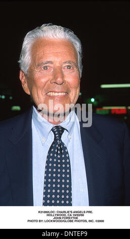 Mar. 12, 2001 - K21092LOC: CHARLIE'S ANGELS PRE..HOLLYWOOD, CA 10/22/00 .JOHN FORSYTHE. LOCKWOOD/   2000(Credit - Stock Photo