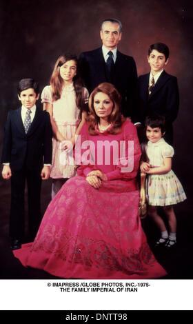 June 15, 2001 - © IMAPRESS /   1975-THE FAMILY IMPERIAL OF IRAN(Credit Image: © Globe Photos/ZUMAPRESS.com) - Stock Photo
